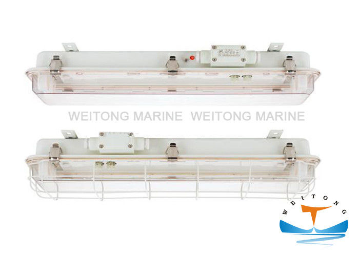 2x20W Fluorescent Pendant Light , Outdoor Marine Lighting With Emergency Lamp Holder