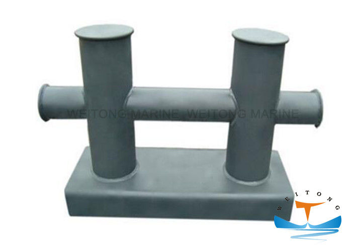 E Mooring Dock Marine Mooring Equipment 50 -300 Diameter Double Cross Bollard