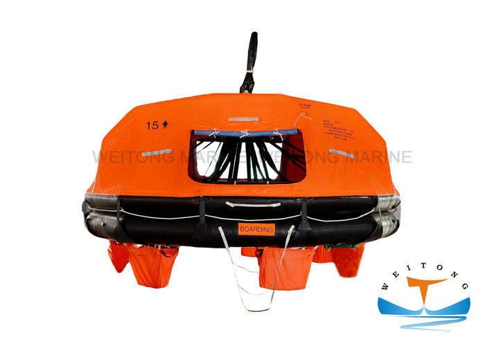 Rubber Marine Life Raft Orange And Black Color 13.3Mpa Working Pressure