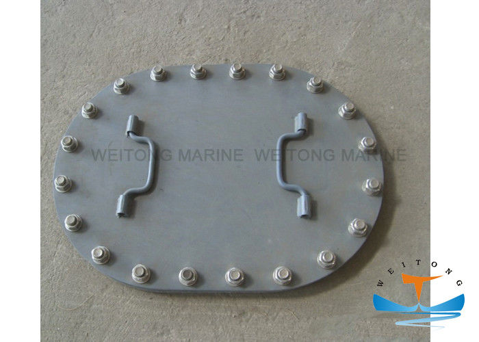 Manhole Marine Hatch Cover Flush Type Xcellent Watertightness With Bolts