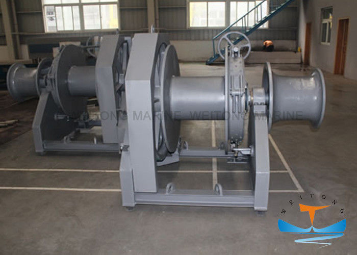 Hydraulic Marine Electric Winch Safe Operation With Steel Wire Rope Drum