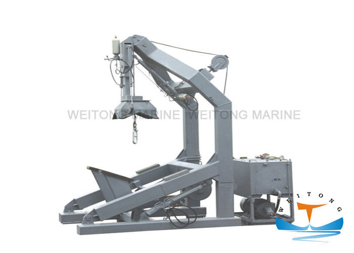 Steel Davit Crane Boat Lift , Free Fall Davit For Fast Rescue Boat Landing Device