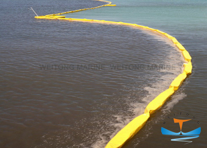 Fence Type Spill Containment Boom DNV Certificated With Solid Buoyancy