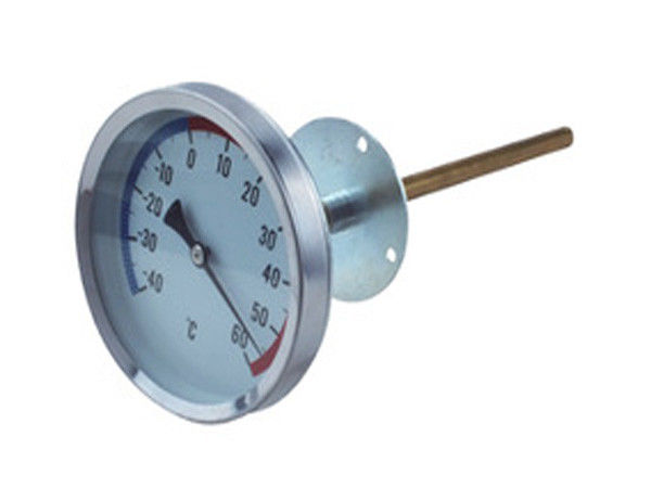 Galvanized Surface Remote Reading Thermometer , Wss Stainless Steel Mechanical Bimetal Thermometer